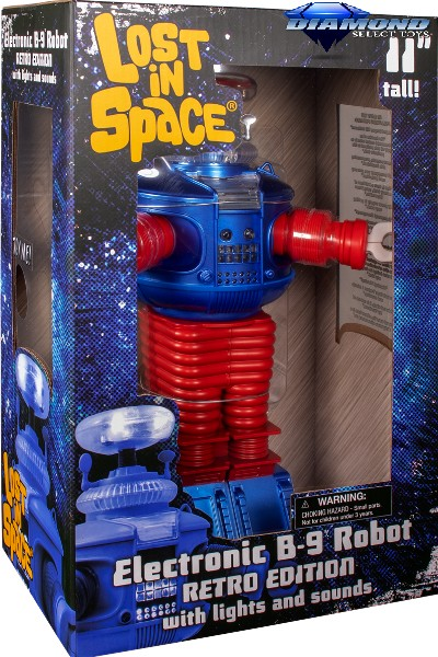 Diamond Select Toys Lost In Space Retro B9 Electronic Robot
